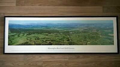 Gleneagles golf courses and hotel panoramic framed photograph