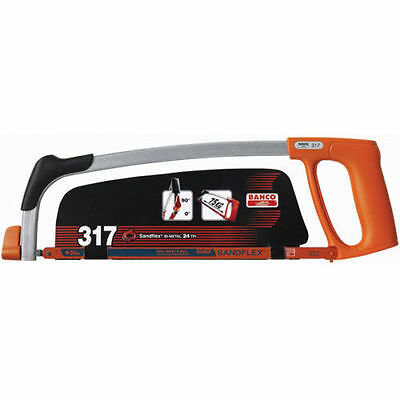 BAHCO 317 Hacksaw Frame Compact Slim Design with 90 degree blade mounting