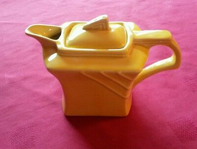 George Clews & Co lovely shaped  yellow Teapot.