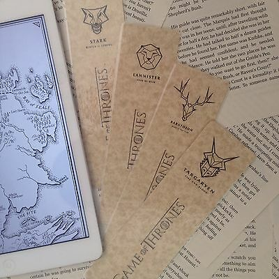 Game of Thrones House Banner Bookmark Cheap Gift ONE SUPPLIED