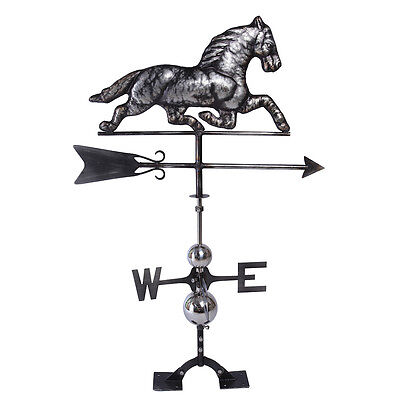 Handcrafted Steel Horse Weathervane Weather Vane FULL BODY w/ Free Roof Mounting