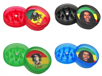 Bob Marley Herb and Tobacco Plastic Grinder 2 piece
