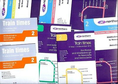 Northern timetables 2 Newcastle Stockton Darlington Middlesbrough railway x22