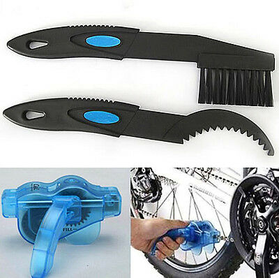 Cycling Bike Bicycle Chain Wheel Wash Cleaner Brushes Scrubber Tool Kit New