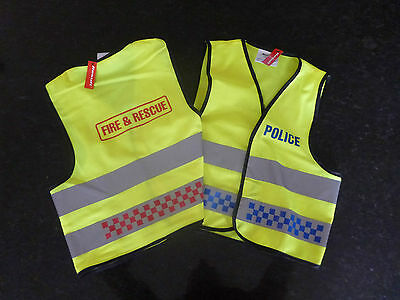 Kids Fireman / Policeman Hi Viz Vest (Dress Up / Costume)