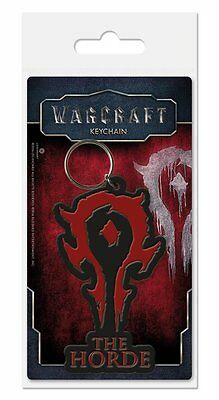 World Of Warcraft The Horde Movie Game Black Rubber Keyring Keychain Official
