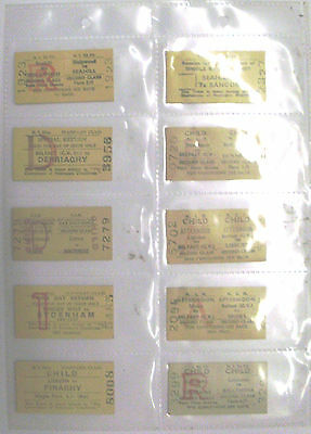 Northern Ireland Railway Tickets – 10 In Total – All Different And In V.g.cond'