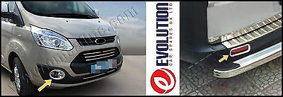 ford CUSTOM TOURNEO chrome fog lamp cover + rear reflector lamp trim 2012+