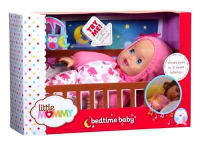 Bedtime Baby Doll Little Mommy Soft Bodied Sleep to 3 Lullabies Interactive Toy