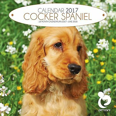 Cocker Spaniel Dog Calendar 2017 with free pull out planner