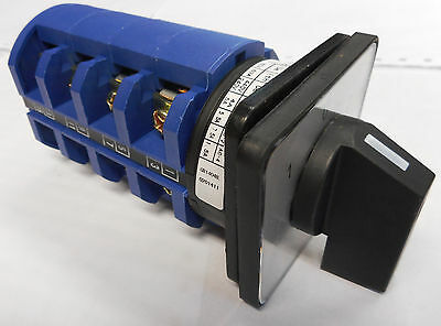 Rotary Switch 63A 4 Pole Cam  Generator Changeover 3 Position Control Co634