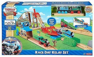 Thomas & Friends Wooden Railway Race Day Relay Train Track Playset