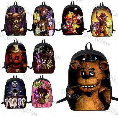 Anime FNAF Five Nights At Freddy Chica Foxy Bonnie Mangle Backpack Shoulder bags