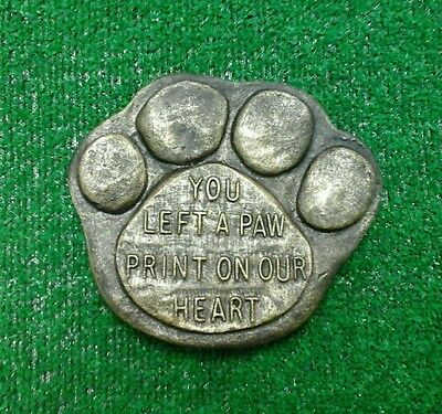 Paw print Large Pet Memorial/headstone/stone/grave marker/memorial black