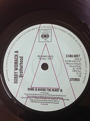 "Bobby Womack & Brotherhood. Home Is Where The Heart Is. Promo. 7"" Vinyl"
