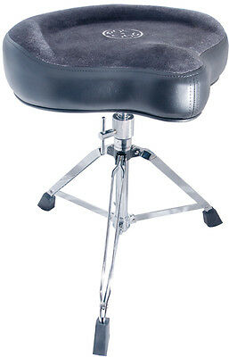 Roc 'n' Soc Saddle Drum Throne Complete, Grey (NEW)