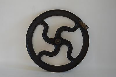 Vintage Industrial Cast Iron Machine Wheel