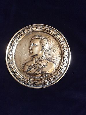 king edward VIII brass plaque c 1936