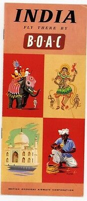BOAC VINTAGE FLY TO INDIA BROCHURE..MINT CONDITION 1950's