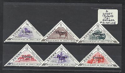 GB STAMPS 6 LUNDY ISLAND EUROPA 1961 ISSUE U/M FROM OLD BOBBLES BASEMENENT @ 60p
