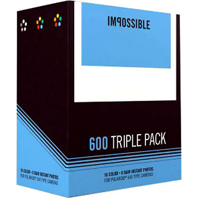 Impossible 600 Triple Instant Film / Impossible 600 film - NEW VERSION