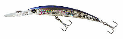 """Yo-Zuri Crystal Minnow Deep Diver 3D Minnow Jointed Mullet Lure 5-1/4"""" F1052-HMT"""