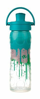 Lifefactory Borraccia in vetro ACTIVE Flip Cap Ultramarine Splash 475 ml