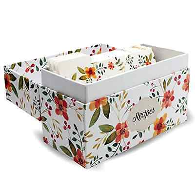 Chef Splendid Recipe Box with 50 recipe cards and 10 dividers included -