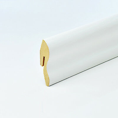 2.5m CLASSIC MDF SKIRTING BOARD 22x40mm white corner end-piece cozy interior new