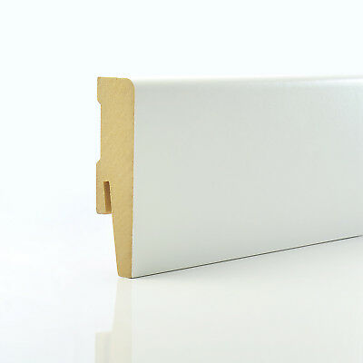 2.5m 15x80mm SIMPLE MDF SKIRTING BOARD edging cover floor wall scotia weimarer