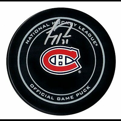 Carey Price Montreal Canadiens Autographed Game Model Hockey Puck-Frameworth COA