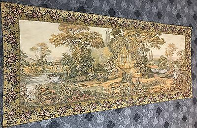 A SUPERB huge Antique French Wall Hanging Tapestry - 86 X 202 Cm