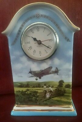 "A ""heroes Of The Sky"" Limited Edition ""heirloom Porcelain"" Mantle Clock."