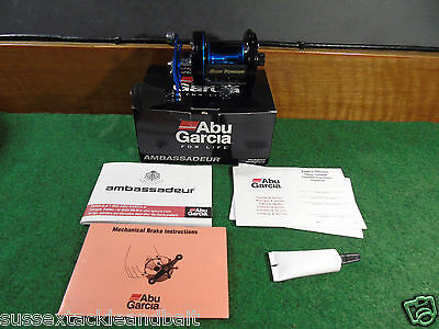 abu ambassadeur 6500 rocket blue yonder multiplier reel used sea fishing gear