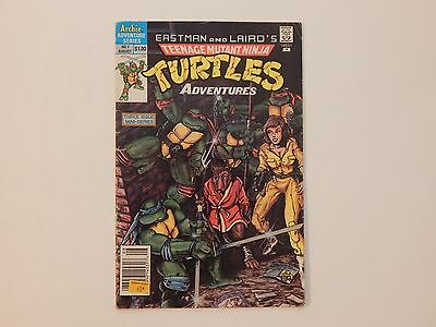 Eastman And Laird's TMNT Adventures #1 Archie 1988 1st Bebop Comic Book GD