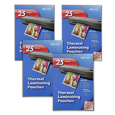 4 Pack - Nuova 5 Mil Thermal Laminating Pouches 5 x 7-Inches, Photo Size