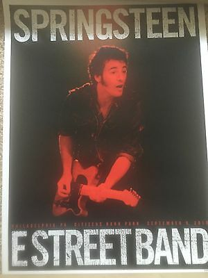 Bruce Springsteen 2016 PHILADELPHIA 9/9  Tour Poster Limited Edition Night 2 Sep