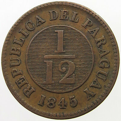 Paraguay 1/12 Real 1845  #t5 329