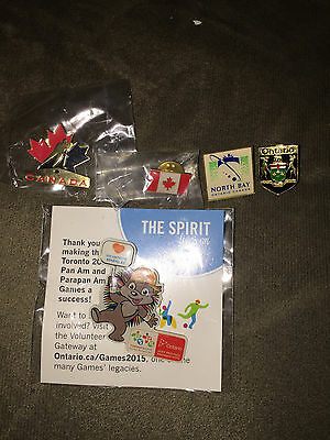 LOT of 5 Different Canadian Related Pins