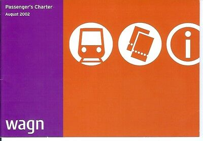 West Anglia Great Northern Railway  WAGN passenger charter 2002 20 A5 pages map
