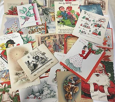 Lot 100+ Vintage 1940s-70s CHRISTMAS CARDS, Assortment, USED