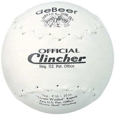 Debeer Official Clincher 16In Softball 1 Ball /