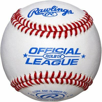 Rawlings ROLB1X Official League Practice Baseballs - 12 PK /