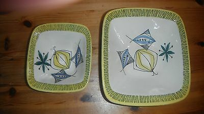 Stavangerflint Flamingo 'Bambus' by Inger Waage 2 oven dishes (Ovnsildfast)