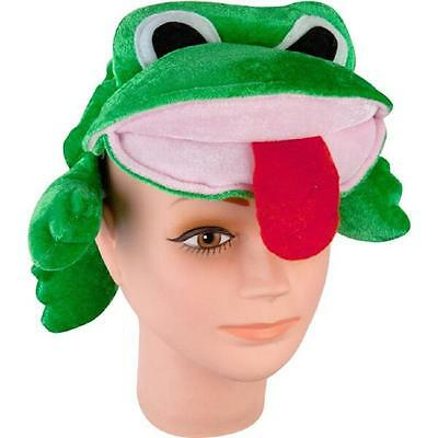 Frog Hat Animal Funny Plush Fancy Dress Up Halloween Adult Costume Accessory