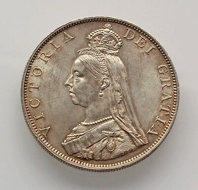 Lt // GREAT BRITAIN - AR DOUBLE FLORIN 1887 VICTORIA - MINT STATE