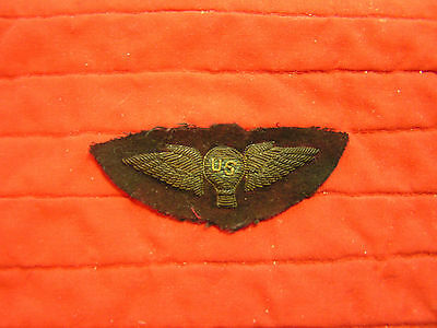 Gold Bullion Balloon Pilot Wing, Hand  Made. Ww I Original