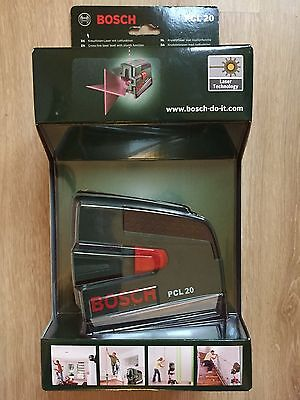 Bosch PCL 20 Cross Line Laser Level, Protective Case New, Sealed