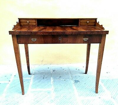 ANTIQUE SPLENDID VICTORIAN BURL WALNUT ELEGANT WRITING DESK 19th c1860