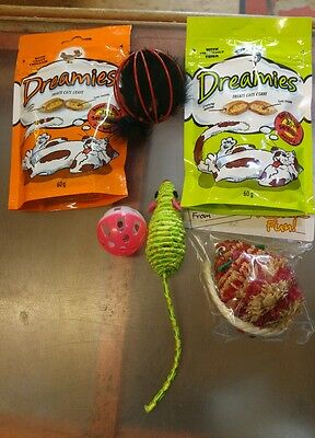 Cat Toys and Treat Pack - ideal for Christmas